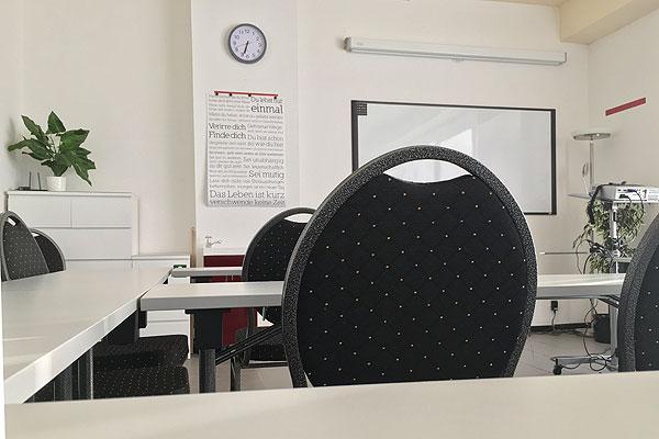 Bild Schulungsraum mit Whiteboard